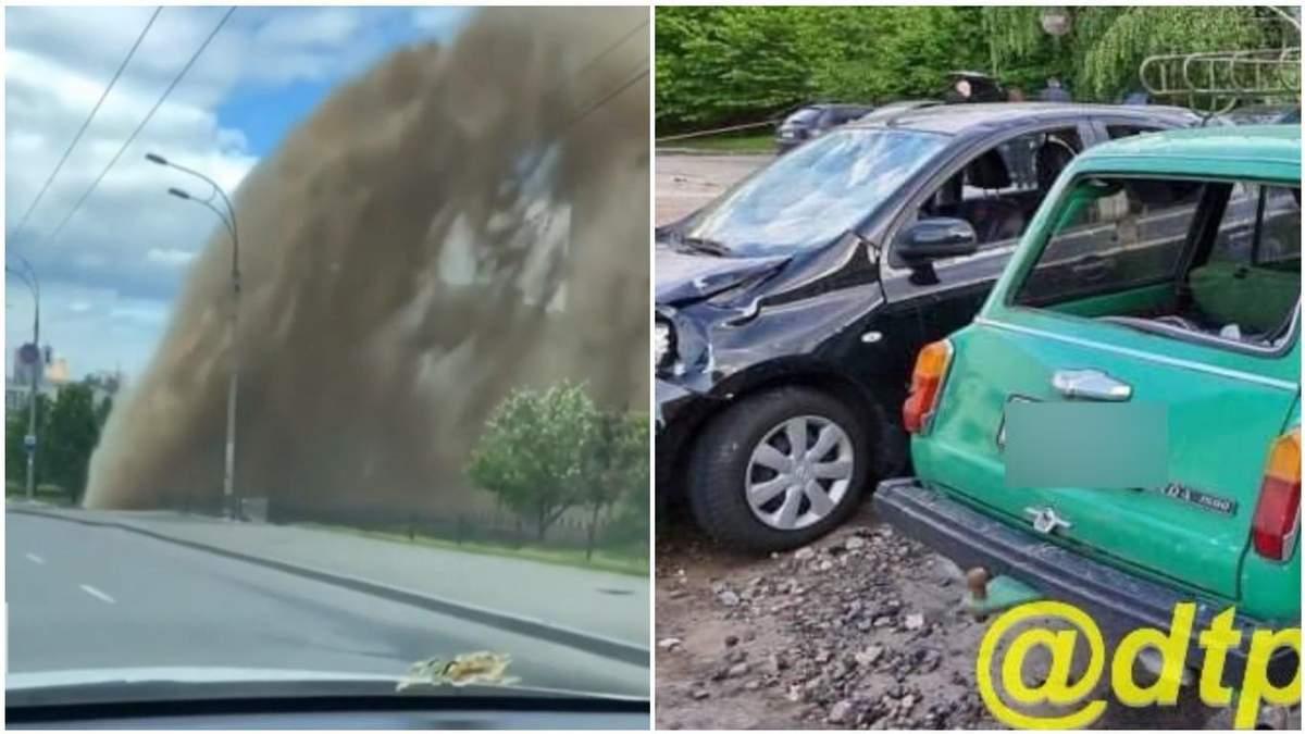 Каміння і потоки води потрощили авто