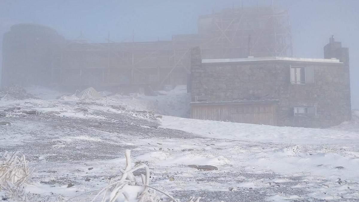 Сніг і мороз у Карпатах 21 травня 2021: фото гори Піп Іван