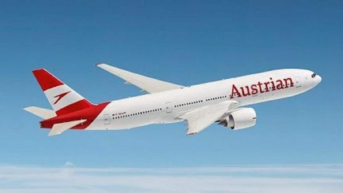 Austrian Airlines виконали рейс Відень – Москва через Україну