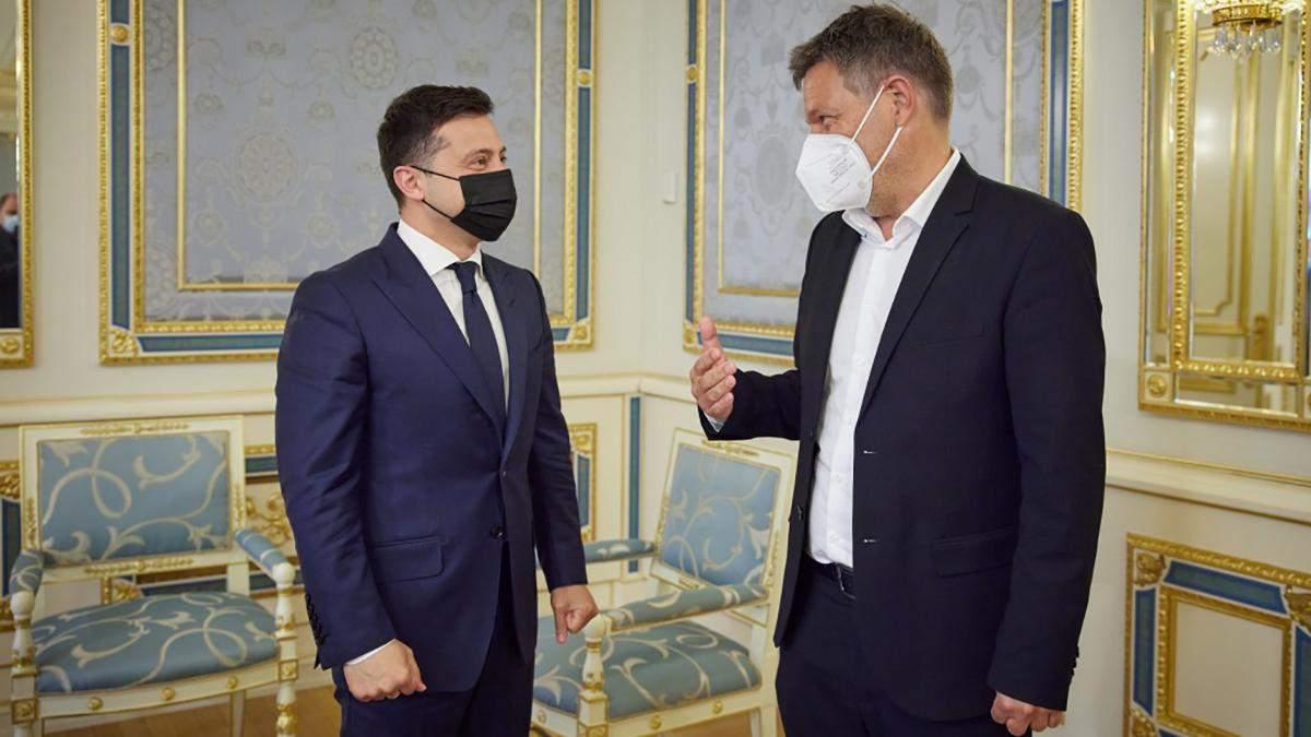 Зеленский встретился с сопредседателем немецкой партии Зеленых