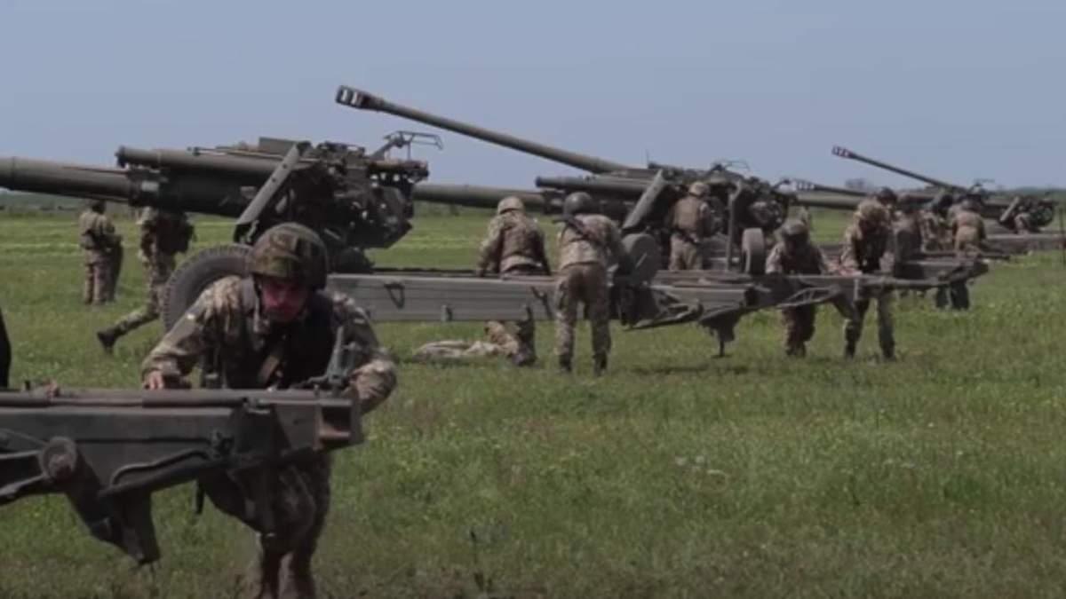 Українські військові тренувались поблизу адмінмежі з окупованим Кримом