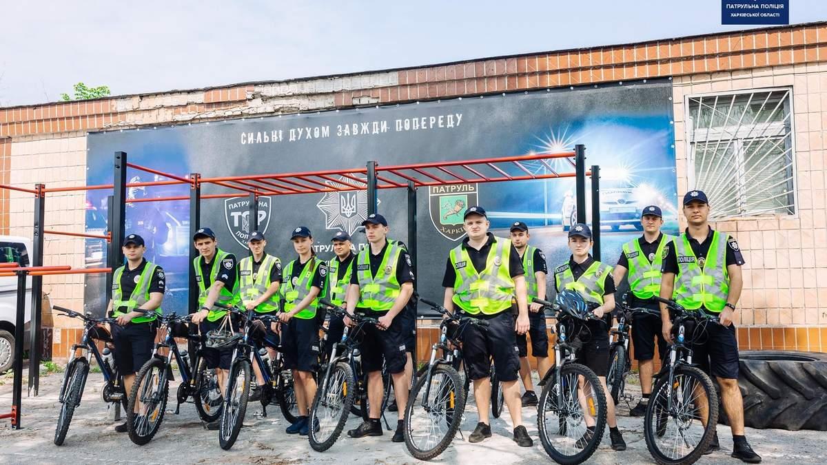 Поліцейські на велосипедах повернулися на вулиці Харкова: фото, відео