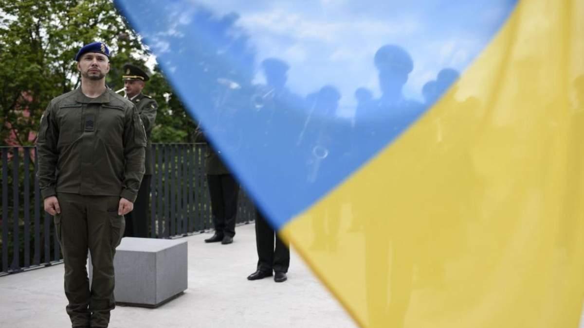 Маркив поднял флаг Украины на Мемориале Небесной Сотни во Львове