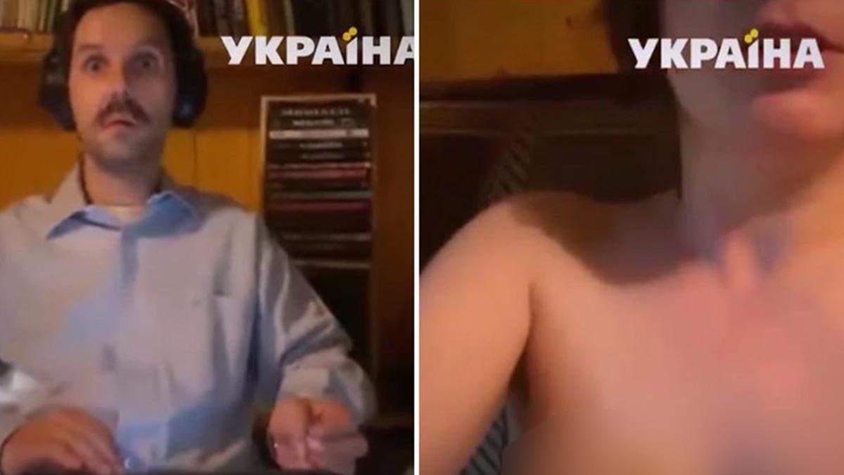 Голая женщина попала в прямой эфир канала Украина: видео 18+