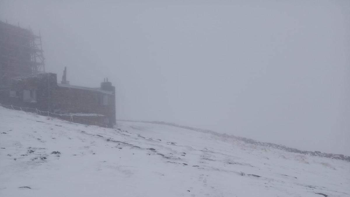 За несколько дней до лета Карпаты замело снегом