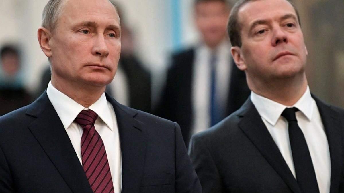 Медведєва розлютили санкції проти росіян через Крим і Навального