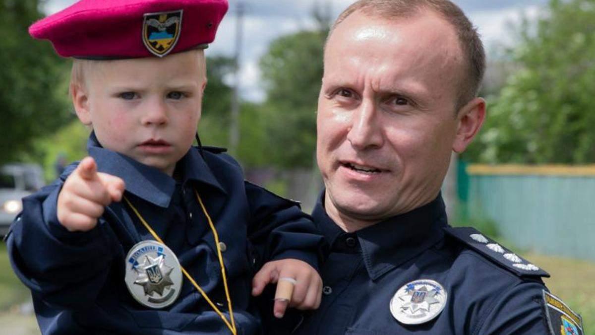 Богдана Униченка приняли в полицию: малыша спасли в апреле
