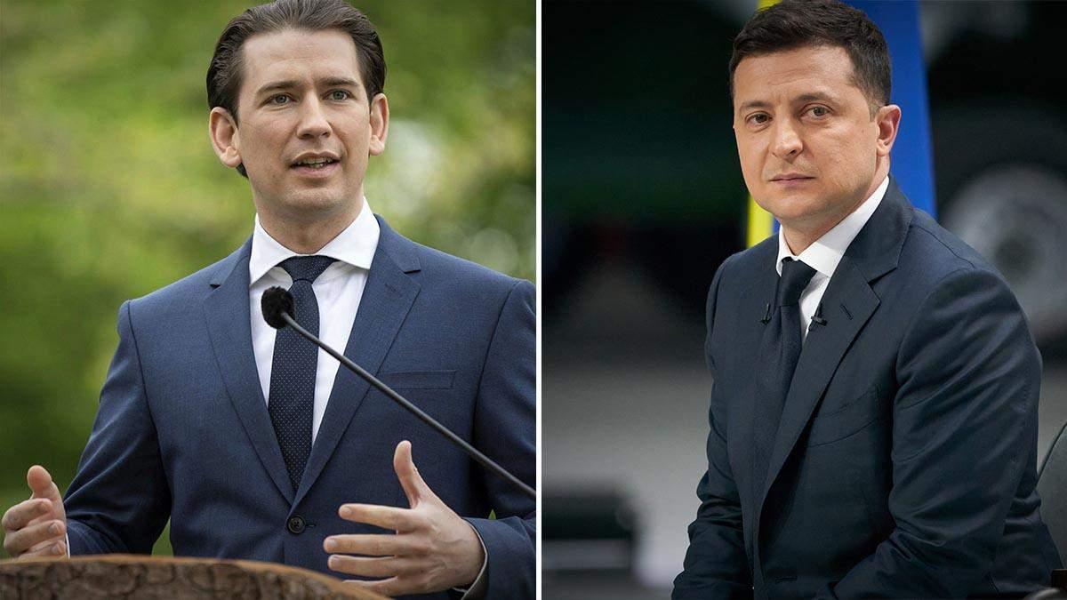 Зеленський поспілкувався з австрійським канцлером Курцом: тези