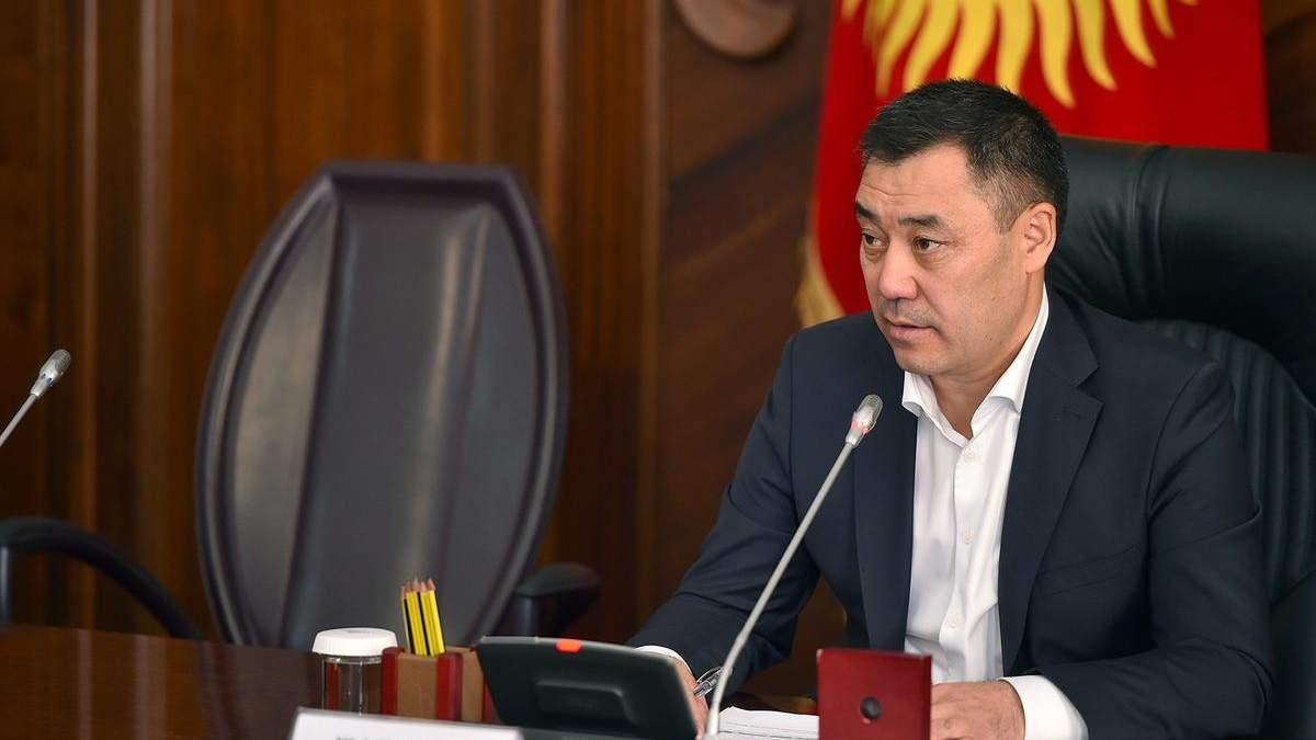 Кортеж президента Кыргызстана попал в ДТП 04.06.2021