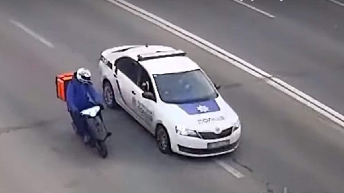 Затримали кур'єра, який втікав від патрульних: відео