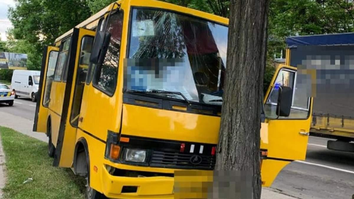 Во Львове автобус с пассажирами влетел в дерево: пострадали 5 человек - фото и видео