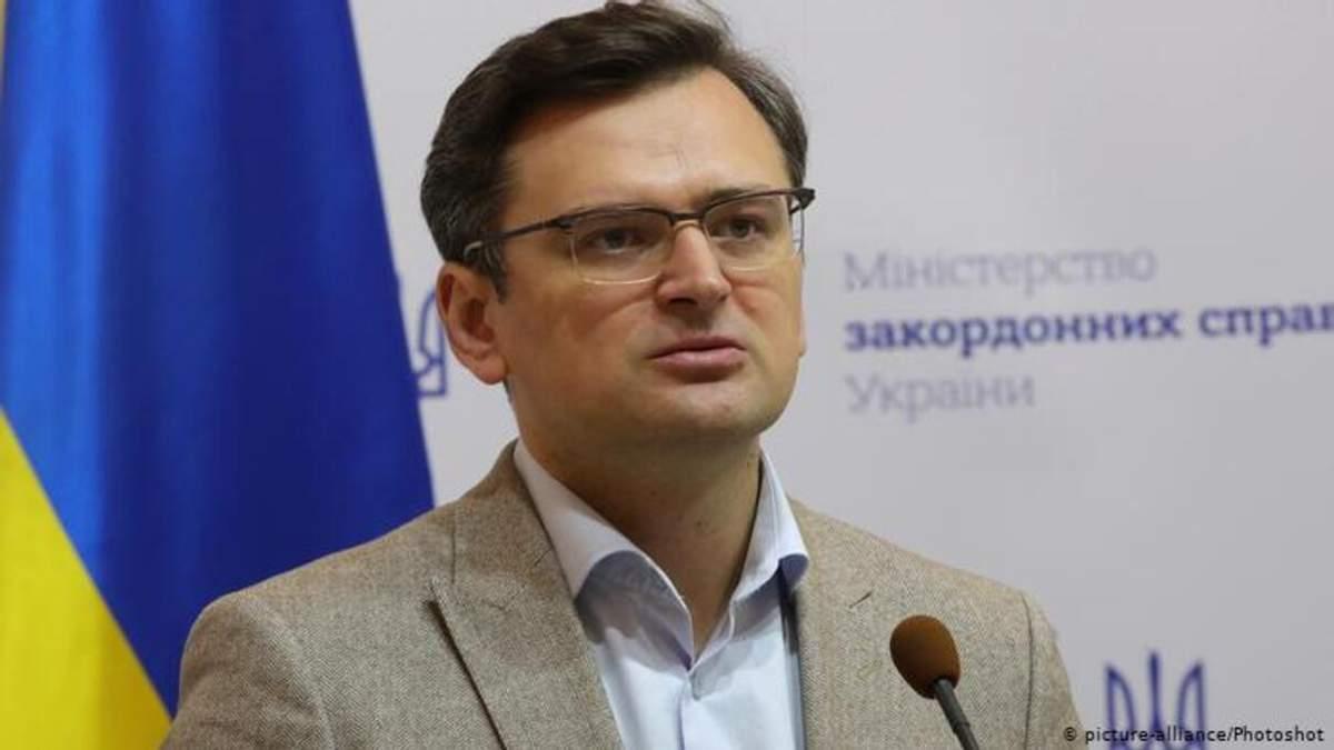 Кулеба різко відповів Росії на закиди щодо форми збірної з Кримом