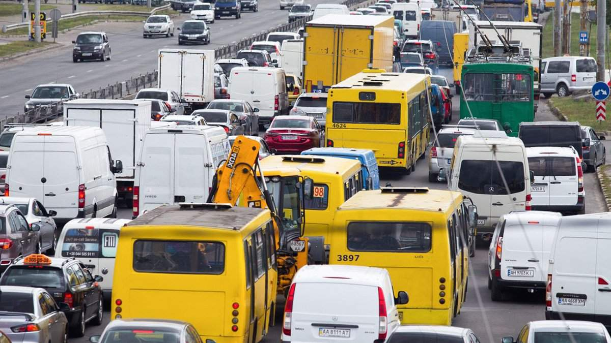 Пробки в Киеве 8 июня: как лучше объехать - онлайн-карта