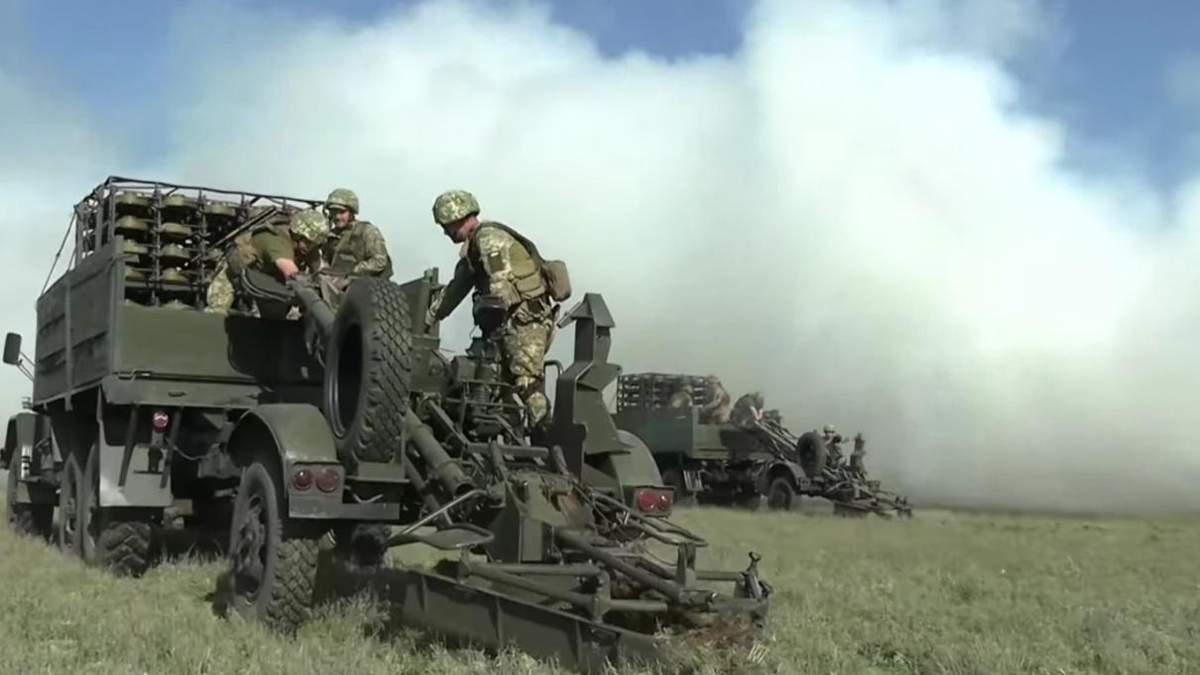 Военные тренировались устанавливать минное поле на границе с Крымом