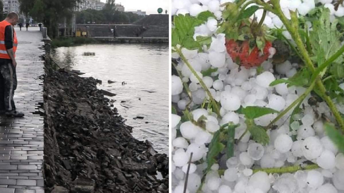 Зруйнована набережна і втрачений урожай: негода на Дніпропетровщині