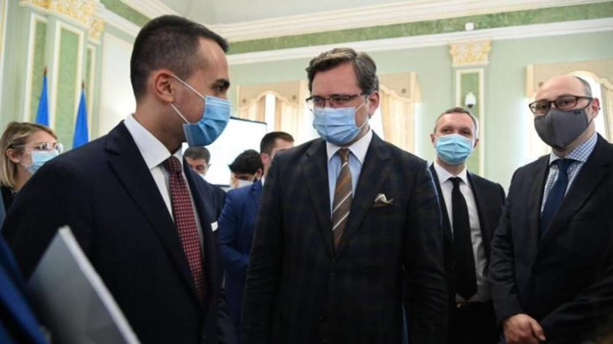 Глави МЗС України та Італії відзначають активізацію ділових зв'язків між бізнесменами двох країн