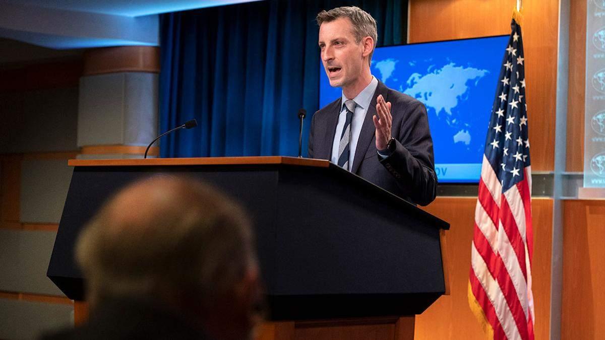 Держдеп: США продовжать переслідувати причетних до Північного потоку-2