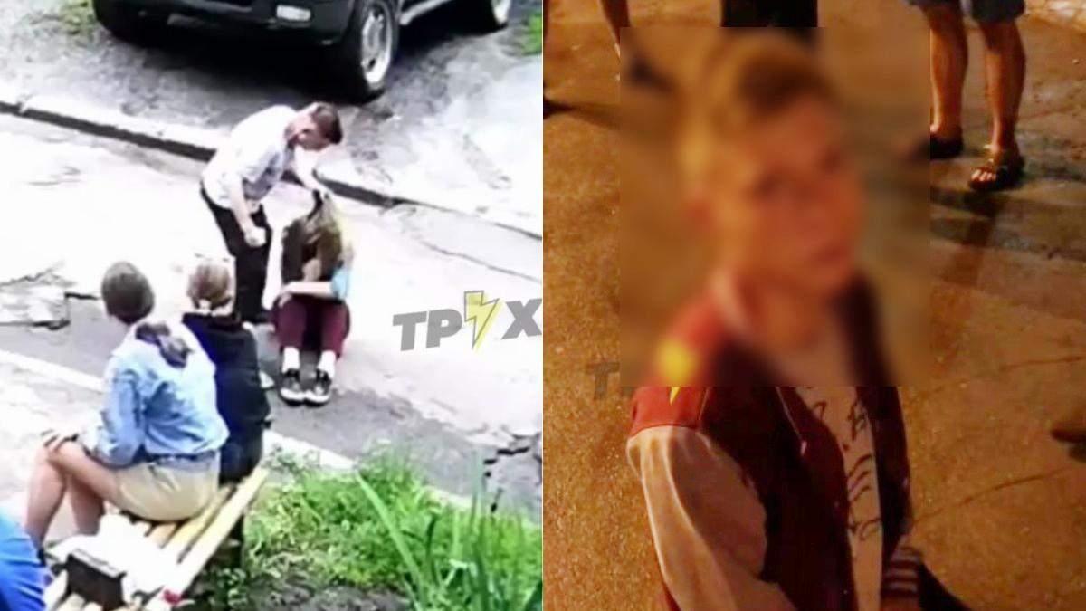 В Харькове 11.06.2021 парень избил девушку на глазах у сверстников