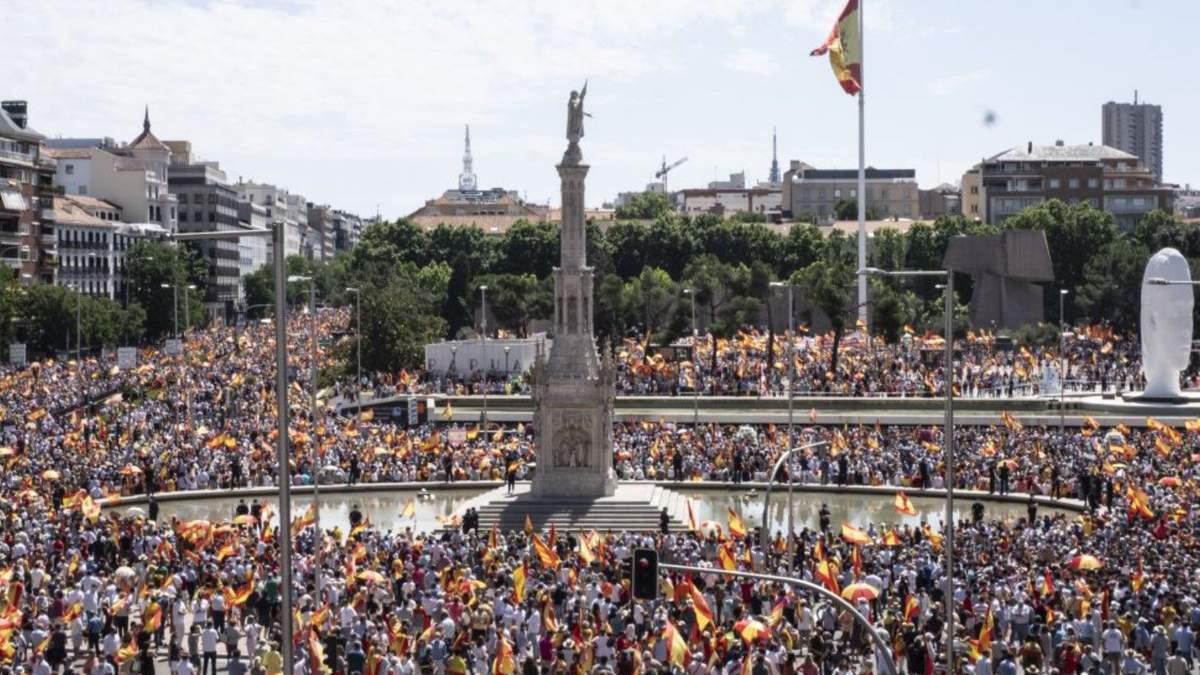 В Іспанії почалася масштабна акція проти помилування політиків Каталонії: відео