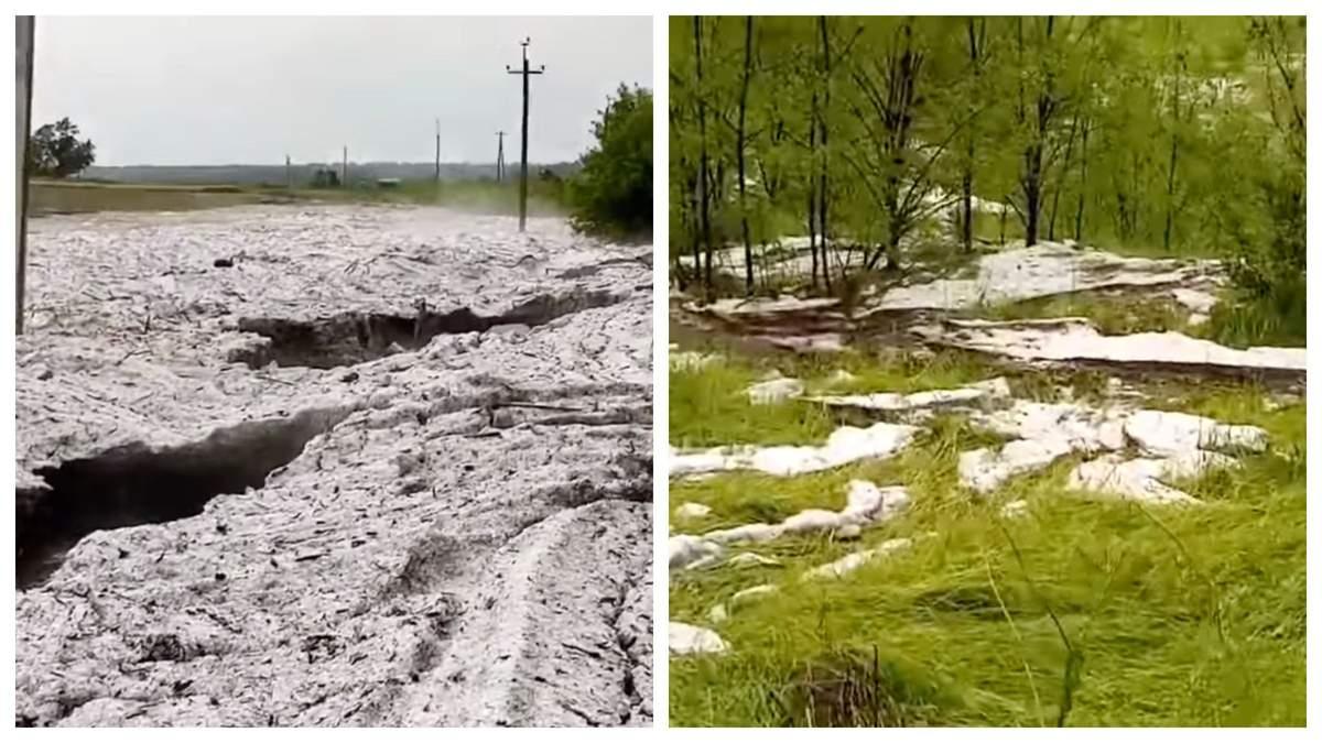 У Кіровоградській області випав велетенський град – відео