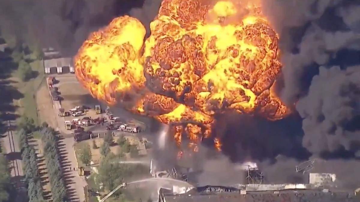 У США горіло хімічне підприємство, місцевих негайно евакуювали: відео