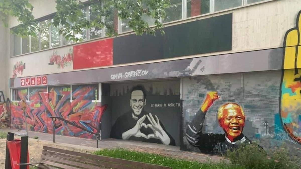 Женева готується до візиту Путіна–у місті помітили графіті з Навальним