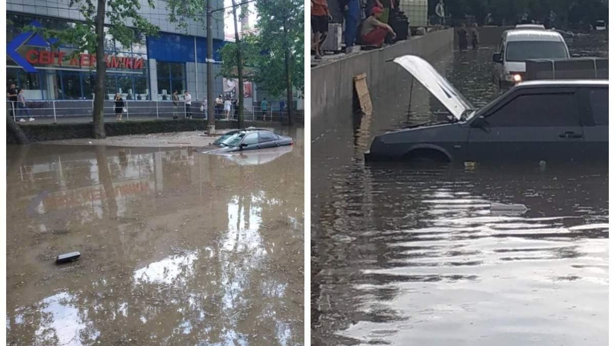 В Николаеве потоп парализовал улицы города 14 июня 2021: фото, видео