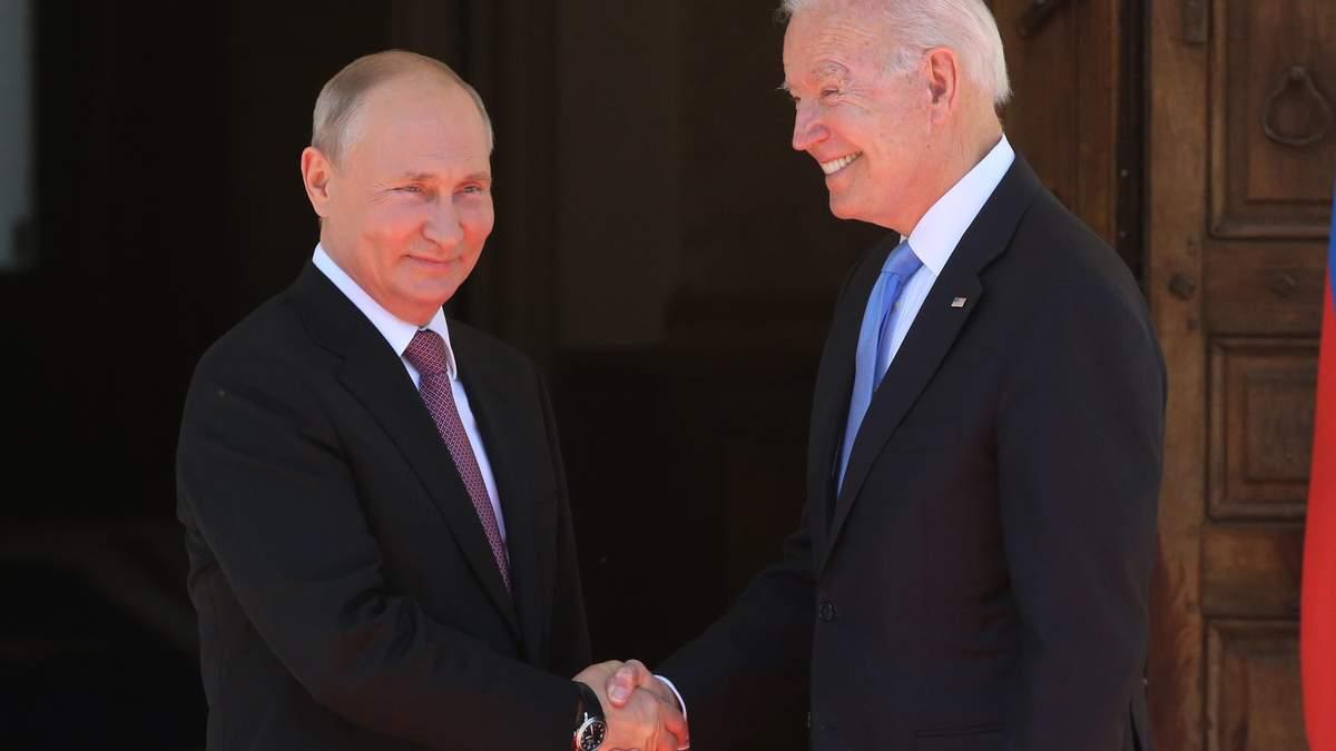 Первые слова Путина и Байдена во время встречи в Женеве: видео