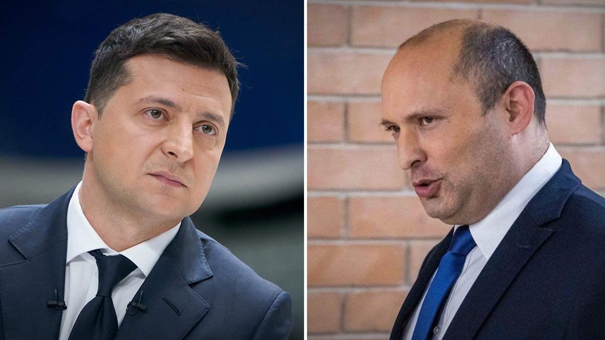 Зеленський вперше поспілкувався з новим прем'єром Ізраїлю Беннетом