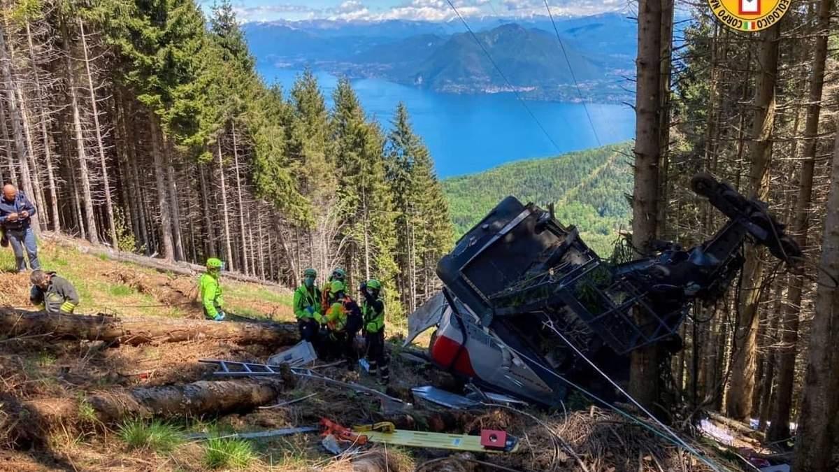 Трагедія на канатній дорозі в Італії: з'явилося відео падіння