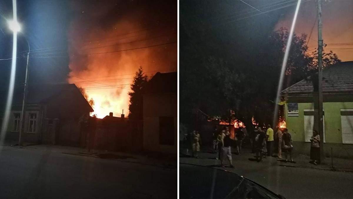 Пожежа у ромському поселенні в Ужгороді