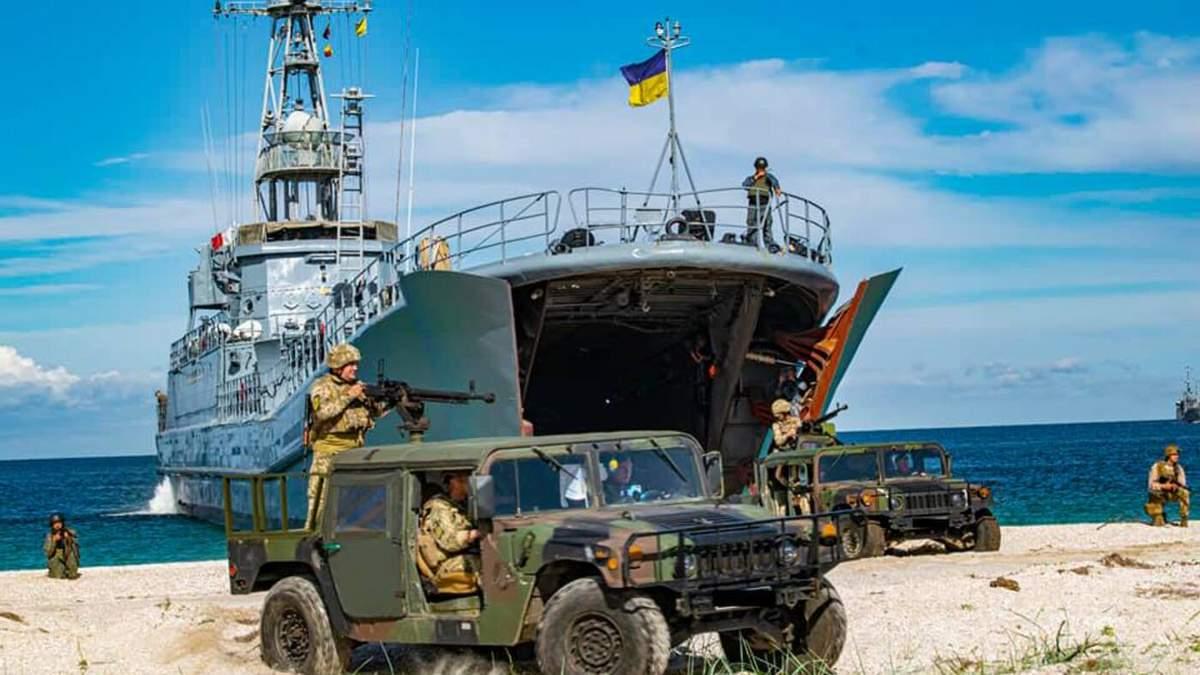 Українська морська піхота десантувалася на Тендрівську косу