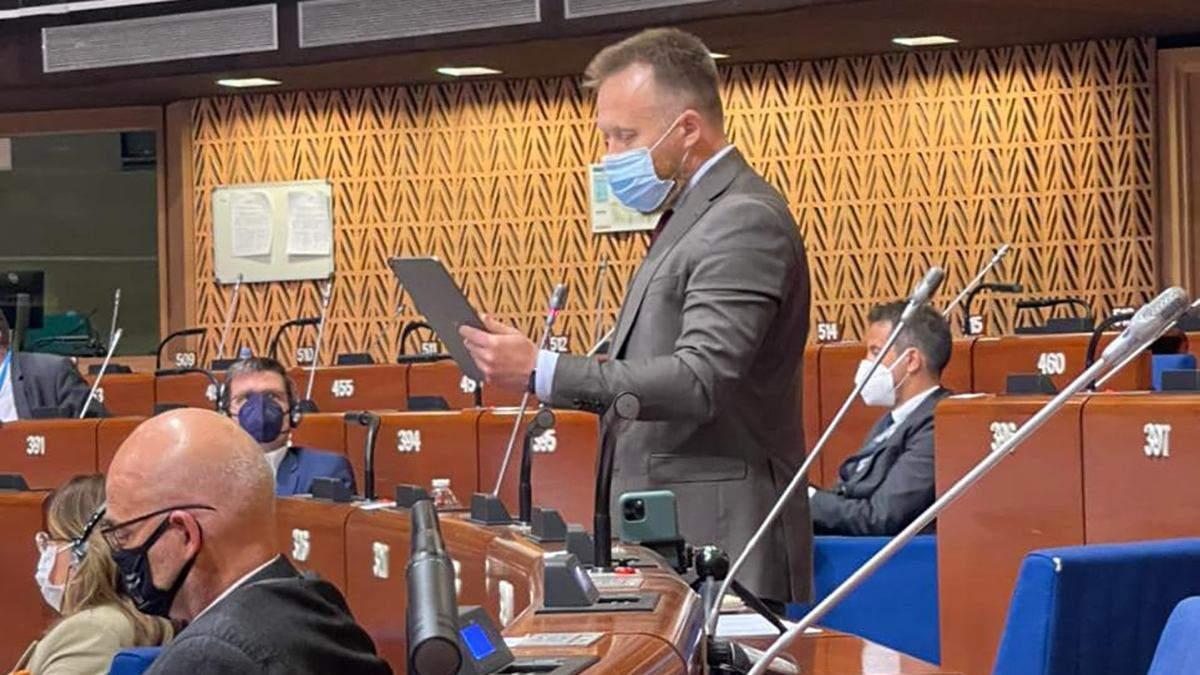 Камельчук выступил в ПАРЕ по поводу COVID-паспортов