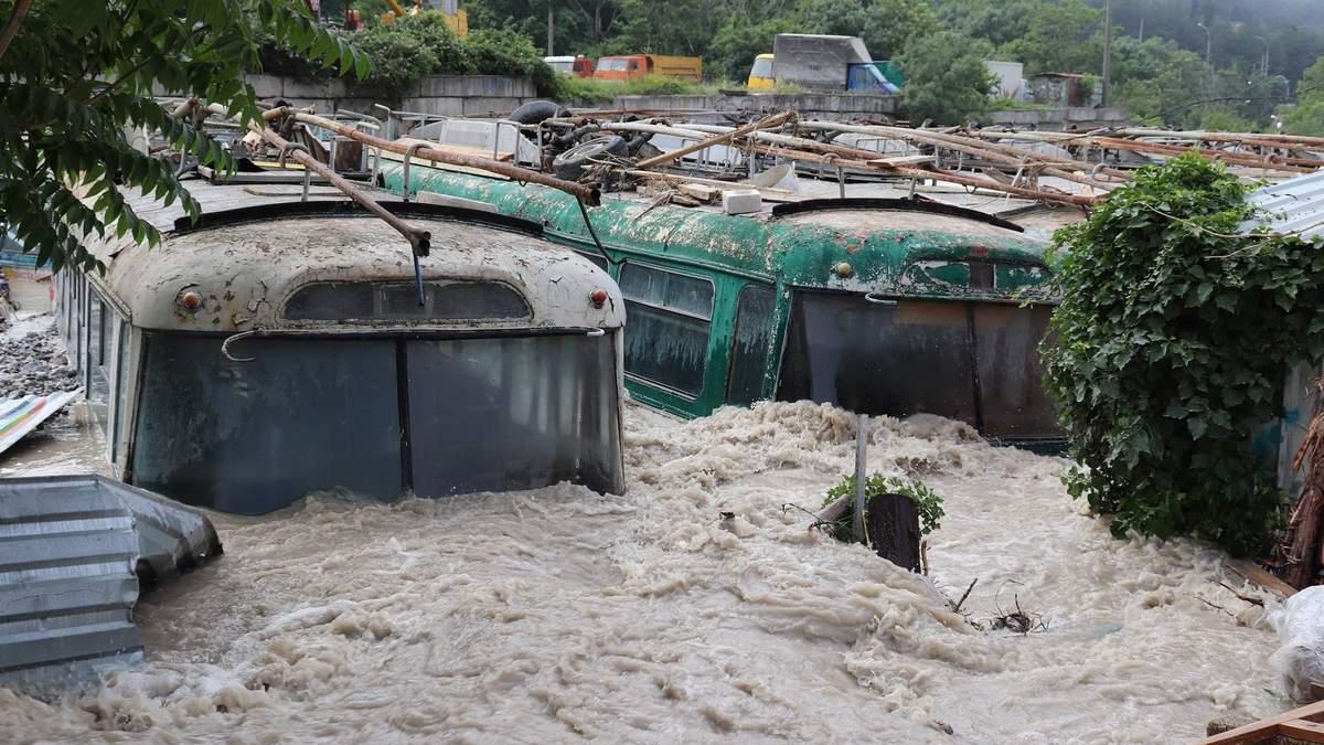 Наводнение в Керчи и Ялте в июне 2021