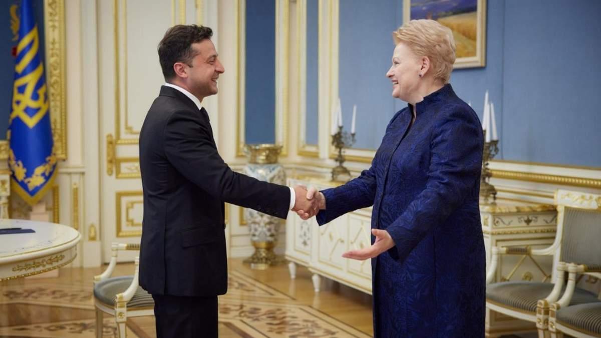 Зеленский встретился с Далей Грибаускайте: о чем говорили