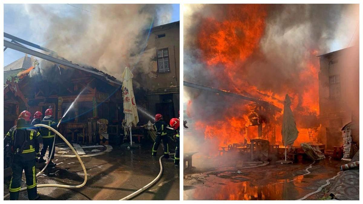 У центрі Тернополя спалахнув ресторан Коловорот