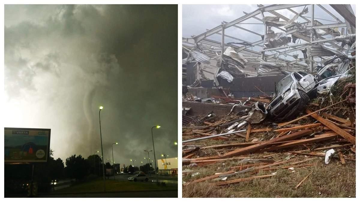 Торнадо в Чехії 24 червня 2021: відео, фото – є жертви