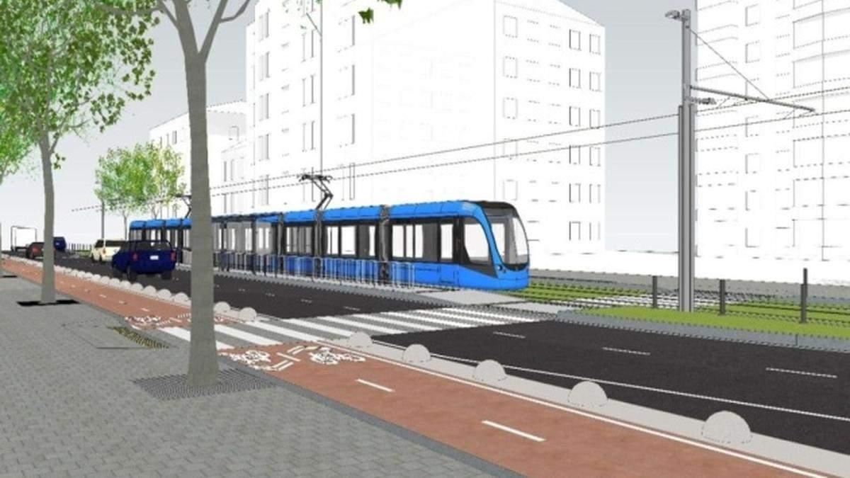 Швидкісний трамвай у Києві продовжать до Палацу спорту