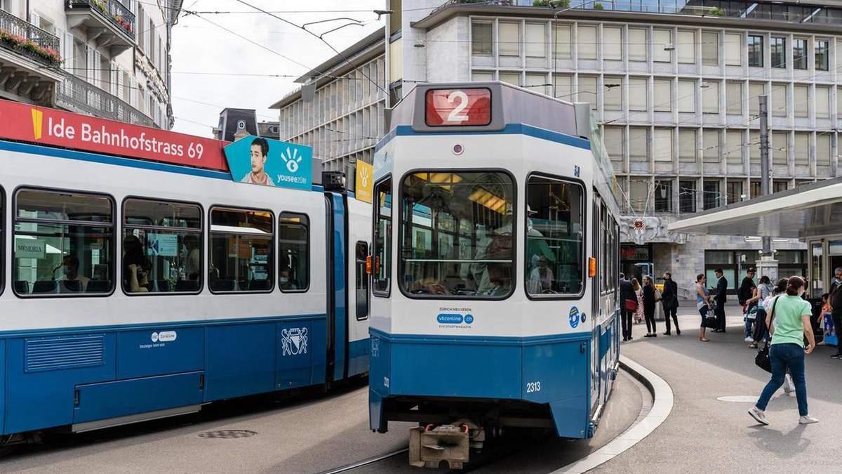 Трамвай з мертвим пасажиром 6 годин їздив у швейцарському Цюріху