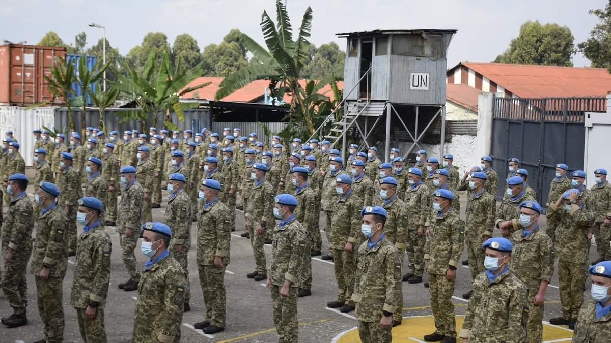 Украинские миротворцы в Конго получили почетные награды от ООН