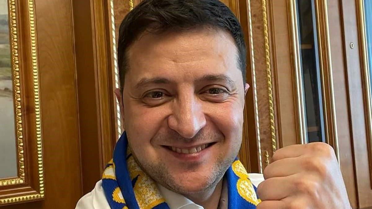 Зеленський привітав збірну України з історичною перемогою