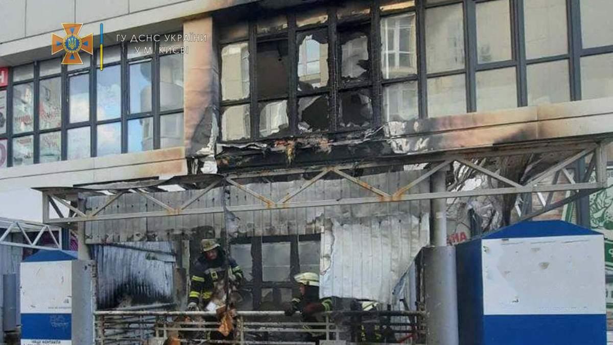 В Киеве горел супермаркет на Кольцова 1 июля 2021: фото и видео