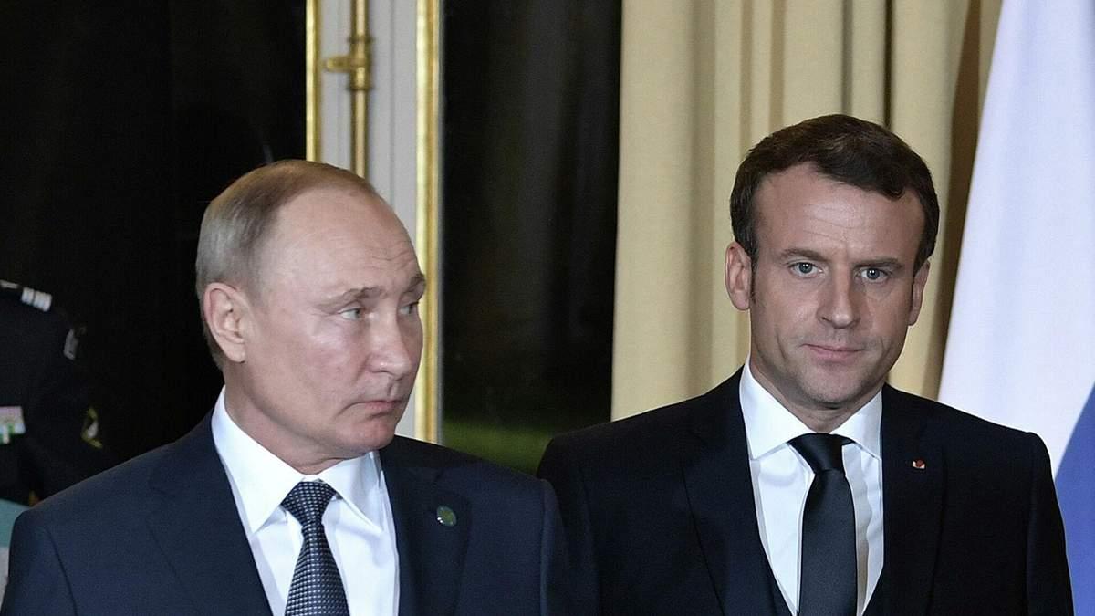 Путін та Макрон поговорили: очільник Кремля поскаржився на Україну