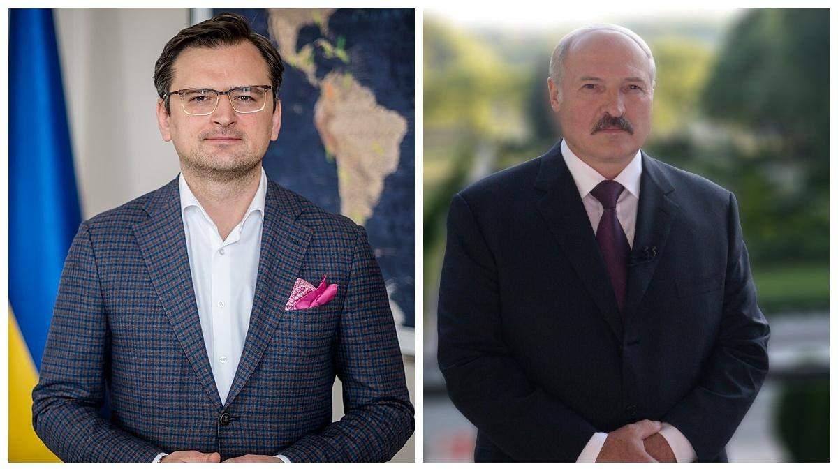 Кулеба спростував заяви Лукашенка про зброю та кордон