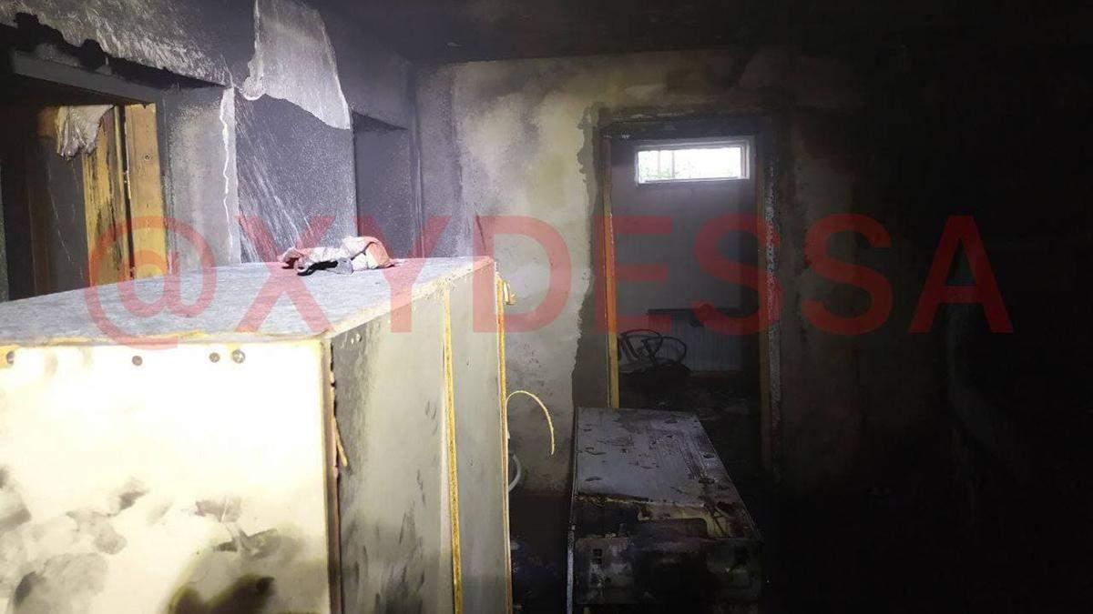 Сорвался газовый баллон и начался пожар под Одессой: есть пострадавший