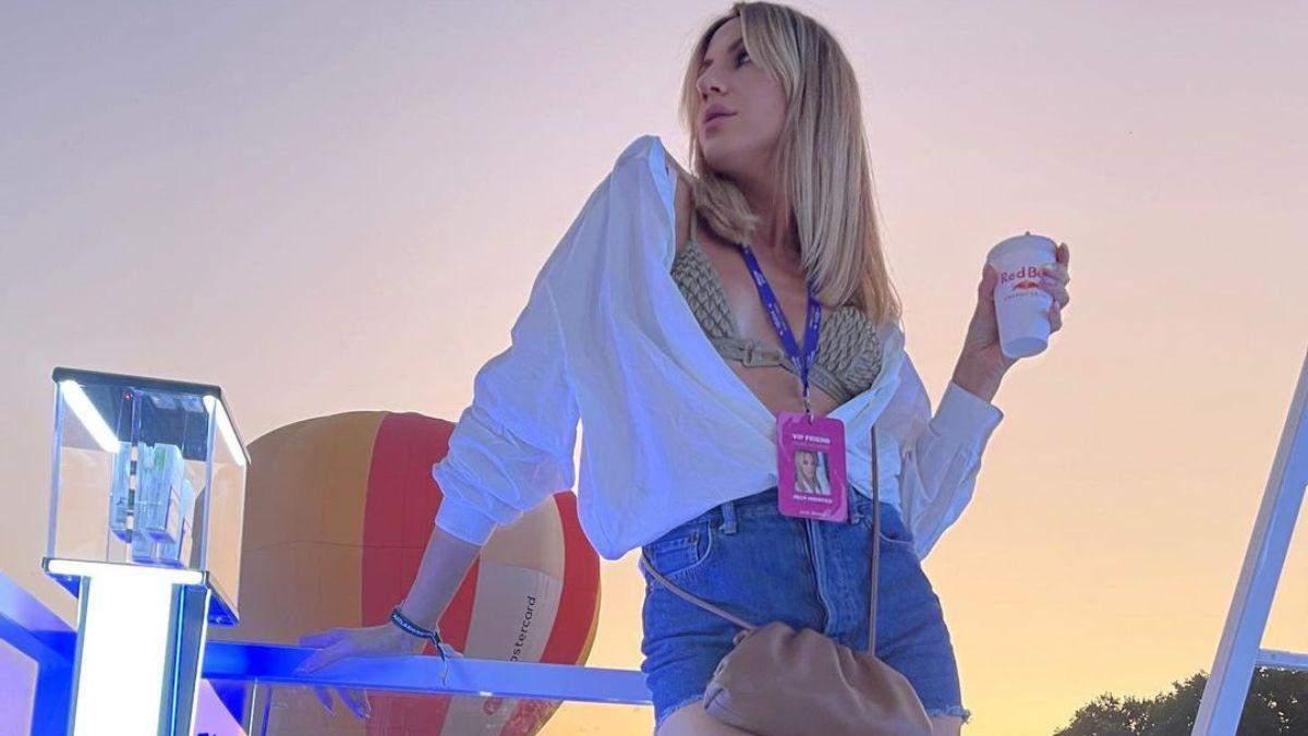 Леся Никитюк в шортах и бюстгальтере побывала на Atlas Weekend: фото