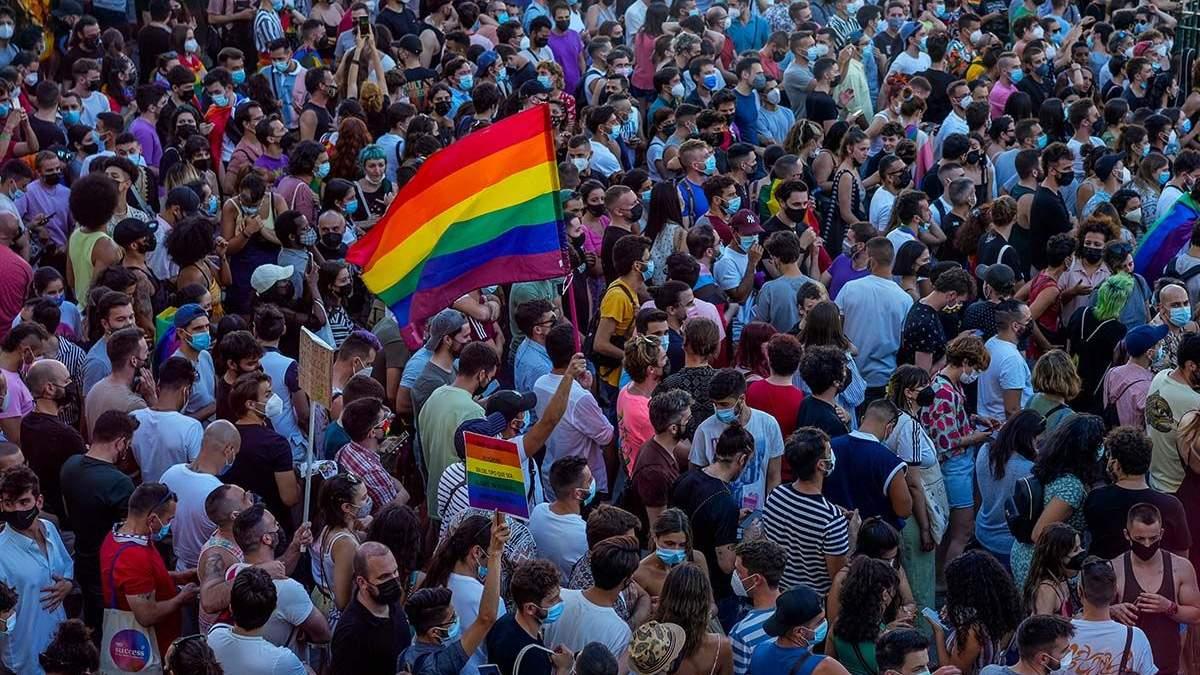 Протести в Іспанії: чоловіка вбили через гомосексуальність