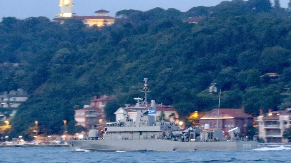Військовий корабель Греції зайшов у Чорне море: фото