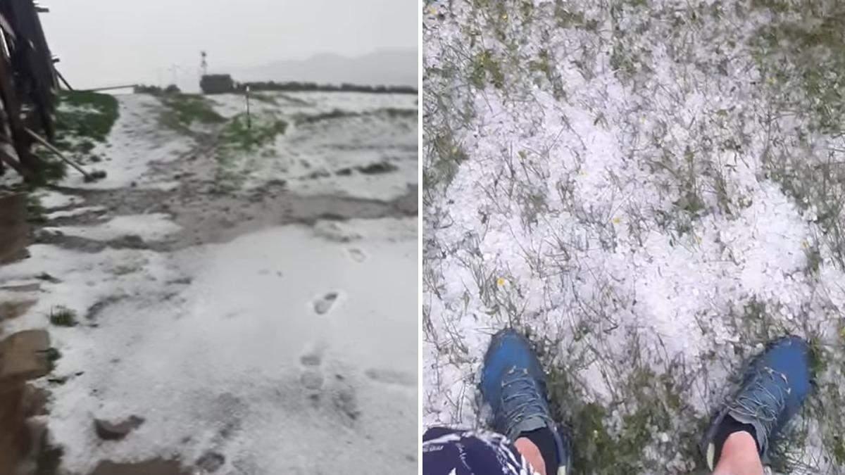 Погода в Карпатах: на горе Поп Иван выпал снег