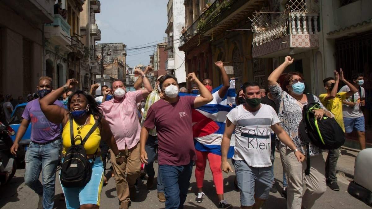 Масштабні протести охопили Кубу: чим невдоволені люди – відео